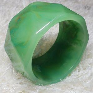 Marble Green Bangle Bracelet